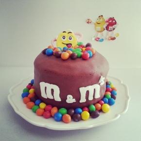 Gâteau m&m's