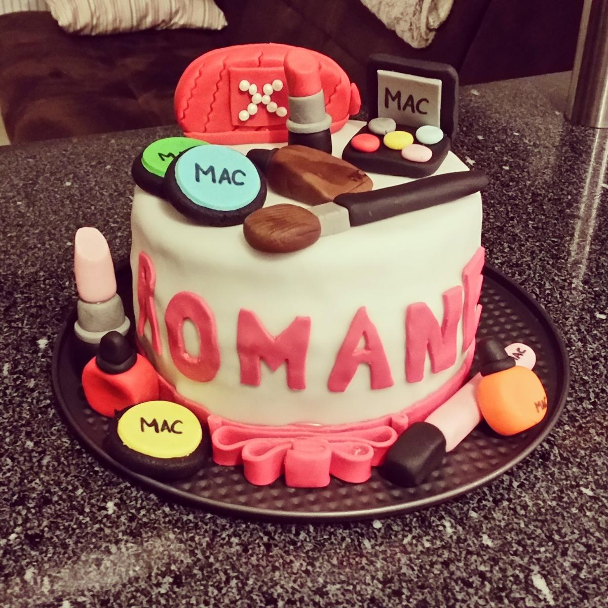 Cake design make up for Decoration 18 ans fille